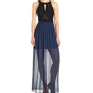 Navy Lace Bodice Maxi Dress - BCBGeneration